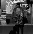 Macdonald, Miscellaneous Street Items|Woman Standing in front of Richmond Cafe