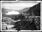 Donner Lake, Sierra Nevada Mountains, Snow Shed Tunnels in Foreground