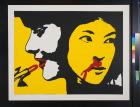untitled (lipstick and bloody nose)