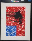 untitled (splatter painted American flag)
