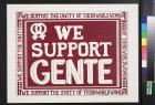 We support gente