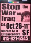 Stop the War on Iraq