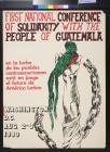 First National Conference Of Solidarity With The People Of Guatemala