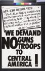 We Demand NO Guns Troops to Central America!