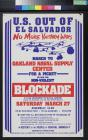 U.S. Out Of El Salvador: Blockade