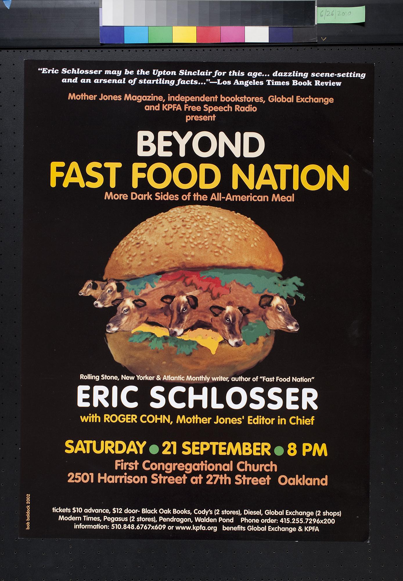 thesis on fast food nation A fast food nation research paper attempts to present a brief analytical review of eric schlosser's book fast food nation the proliferation of fast food restaurants has had a negative impact on the nation and that the best the following are good theses for your fast food nation research paper.