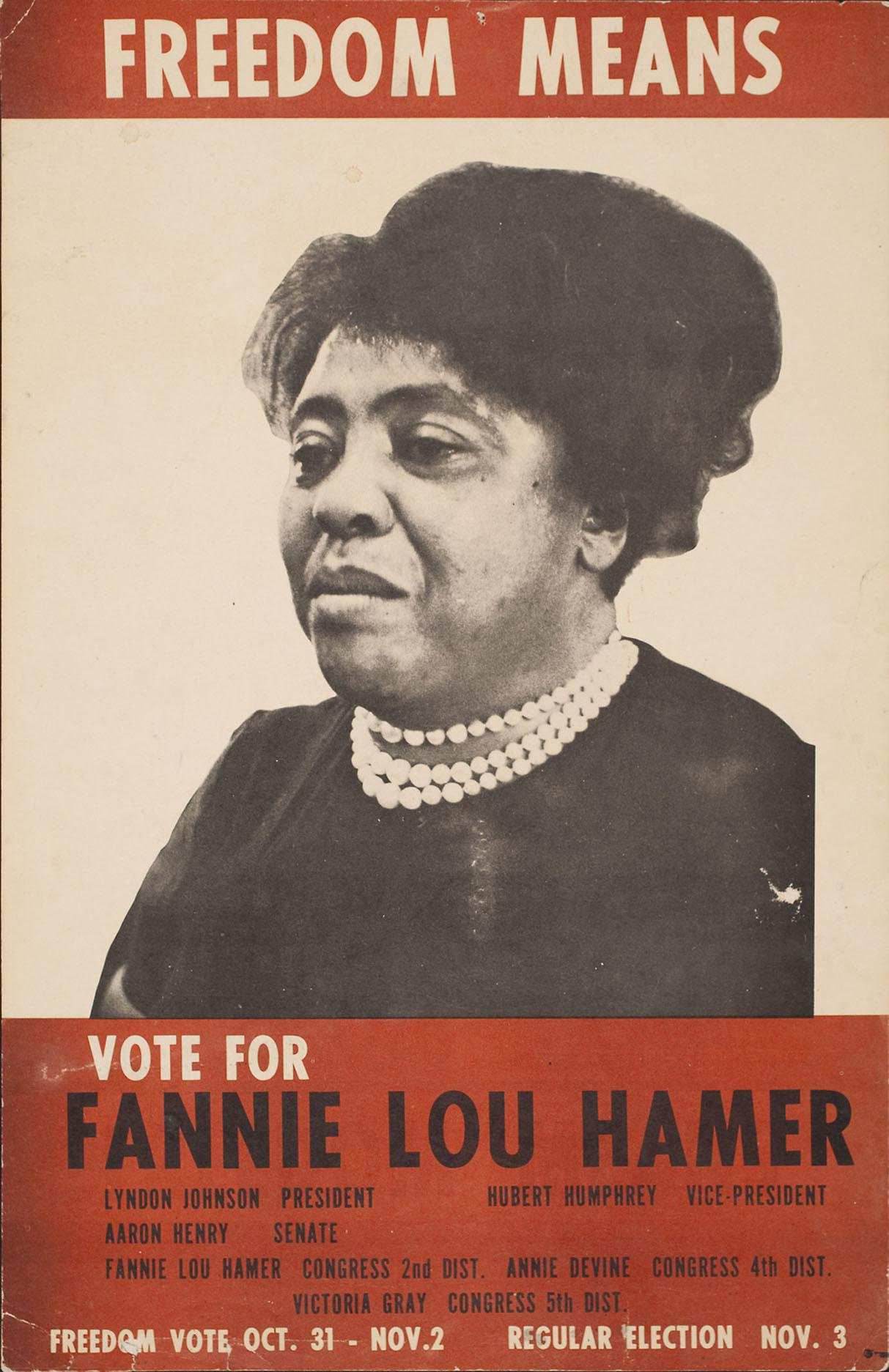fannie lou hammer essay Fannie lou hamer's life took a dramatic turn the day she showed up for a mass meeting to learn about voting it was august 1962 and hamer, who was forty-four years old, wasn't even sure what a mass meeting was.