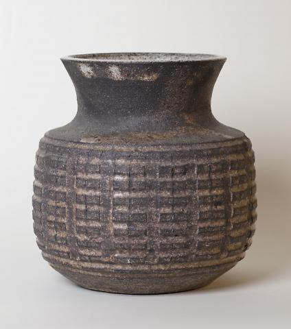 Pot with Lid and Repeating Design