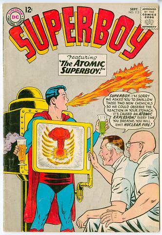 Superboy, The Atomic Superboy!
