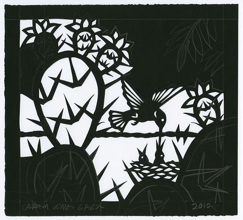 untitled (unfinished cut-paper work)