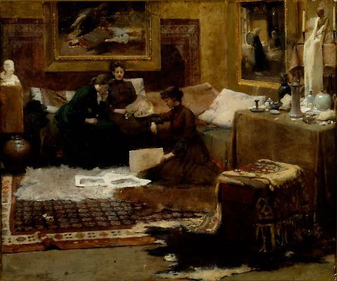 Paris Studio Interior  (Studio Interior with Figures); A Studio Corner