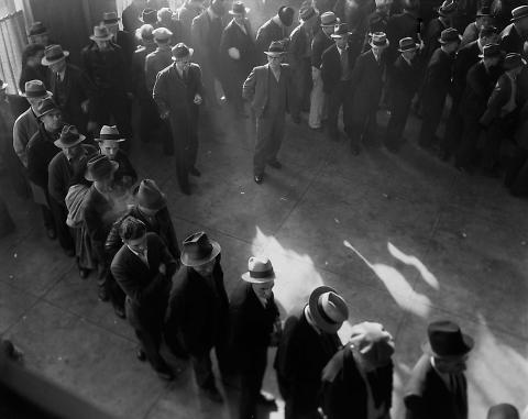 San Francisco Social Security Office Line Up at Social Security in Early Days of the Program