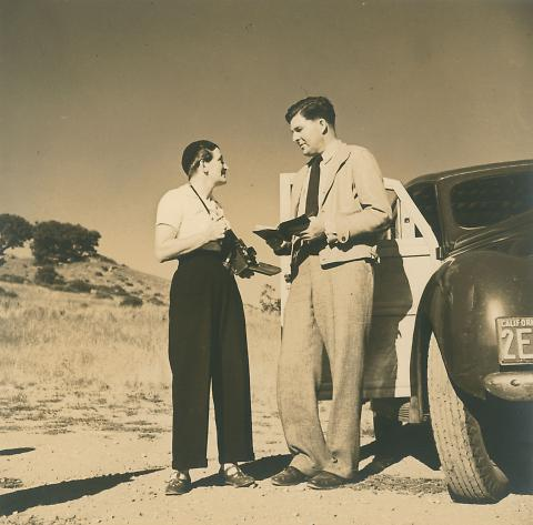 Untitled (Dorothea Lange and Paul Taylor on Field Trip, 1935)
