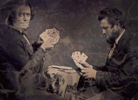 (Isaac Wallace Baker and A Friend Playing Poker)