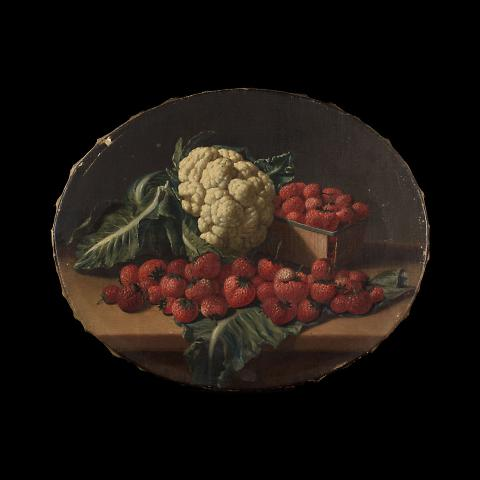 Still Life with Cauliflower and Strawberries