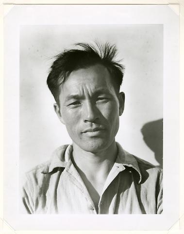 Young Man at Manzanar Relocation Center