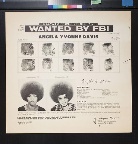 Wanted: Angela Yvonne Davis