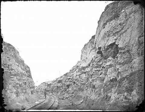 Miller and Patterson's Work Cut No. 5 near Red Buttes