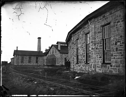Rear View of Laramie Shops from Southeast, No. 4