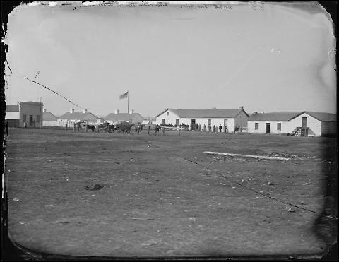Fort Bridger, Judge Carter Store in Middle Distance