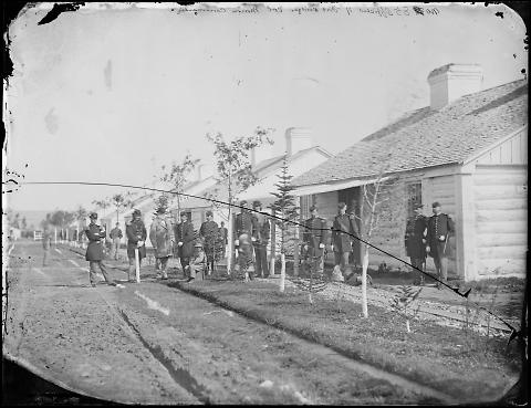 Officers of Fort Bridger, Colonel Morrow Commanding