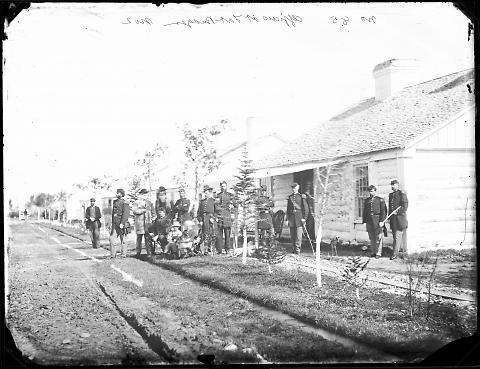 Officers at Fort Bridger, No. 2
