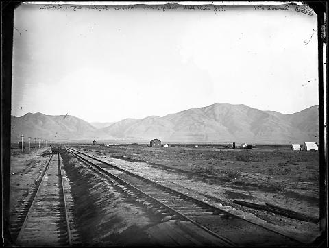 Panoramic No. 1, Salt Lake Valley from Corinne, Brigham City in the Distance