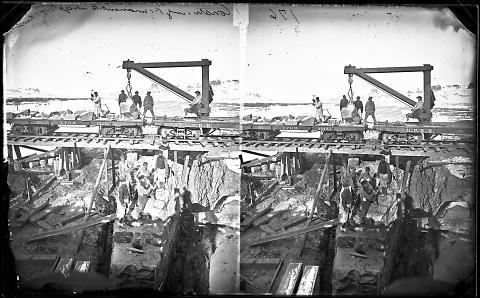 Constructing Permanent Bridge, Green River