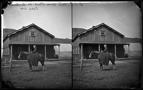 Miss Anna Reed on Horseback, Echo City
