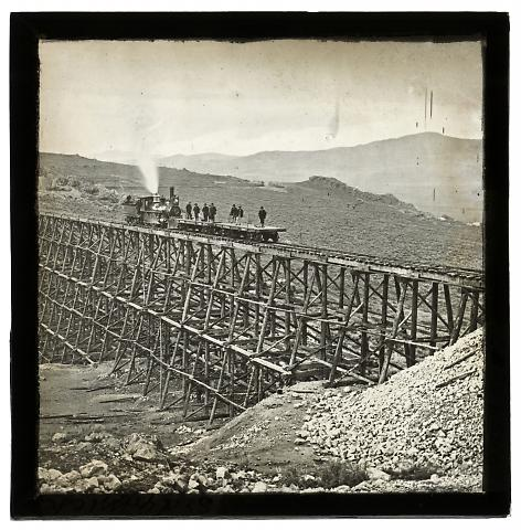 Promontory Trestle, Engine on Trestle West No. 3