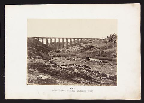 Dale Creek Bridge, General View from The Great West Illustrated in a Series of Photographic Views Across the Continent