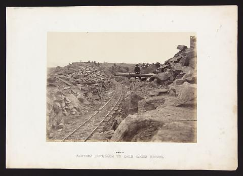 Eastern Approach To Dale Creek Bridge from The Great West Illustrated in a Series of Photographic Views Across the Continent