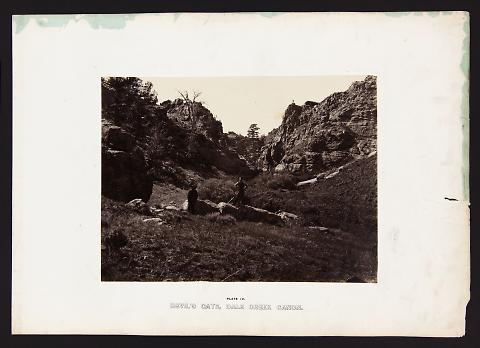 Devil's Gate, Dale Creek Canon from The Great West Illustrated in a Series of Photographic Views Across the Continent