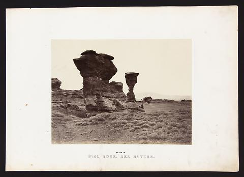 Dial Rock, Red Buttes from The Great West Illustrated in a Series of Photographic Views Across the Continent