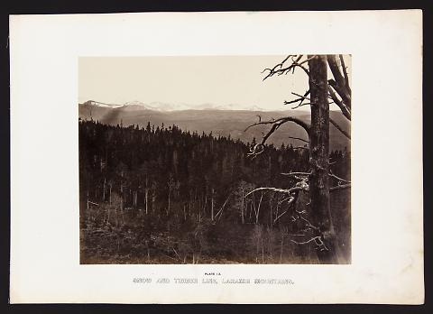 Snow And Timber Line, Laramie Mountains from The Great West Illustrated in a Series of Photographic Views Across the Continent