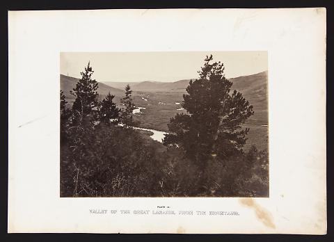Valley Of The Great Laramie, From The Mountains from The Great West Illustrated in a Series of Photographic Views Across the Continent