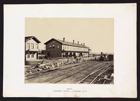 Laramie Hotel, Laramie City from The Great West Illustrated in a Series of Photographic Views Across the Continent