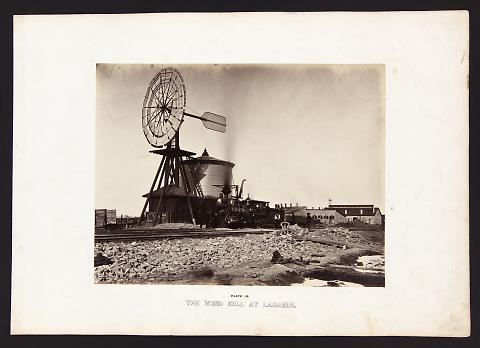 The Wind Mill At Laramie from The Great West Illustrated in a Series of Photographic Views Across the Continent