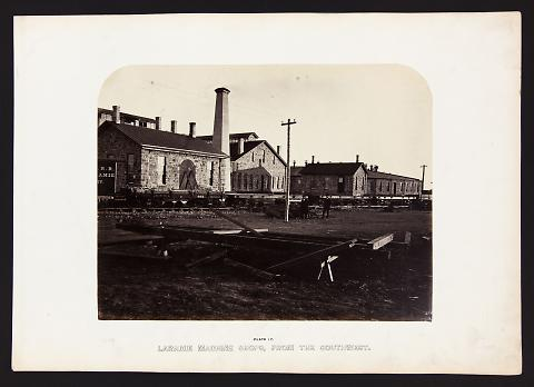 Laramie Machine Shops, From The Southwest from The Great West Illustrated in a Series of Photographic Views Across the Continent