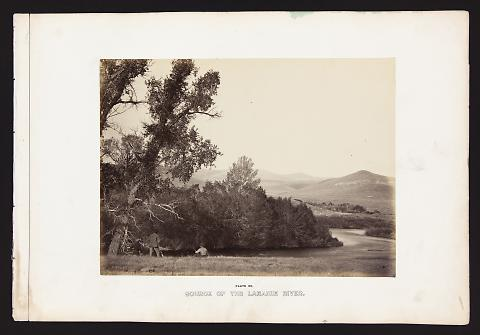 Source Of The Laramie River from The Great West Illustrated in a Series of Photographic Views Across the Continent