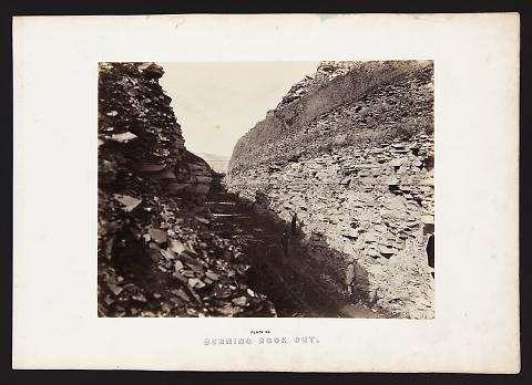 Burning Rock Cut from The Great West Illustrated in a Series of Photographic Views Across the Continent