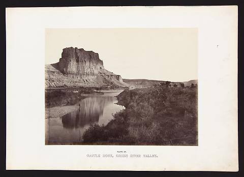Castle Rock, Green River Valley from The Great West Illustrated in a Series of Photographic Views Across the Continent