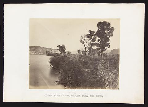 Green River Valley, Looking Down The River from The Great West Illustrated in a Series of Photographic Views Across the Continent
