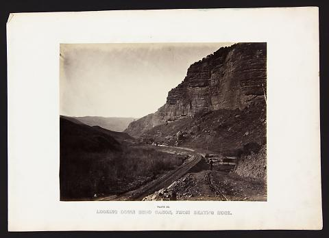 Looking Down Echo Canon, From Death's Rock from The Great West Illustrated in a Series of Photographic Views Across the Continent