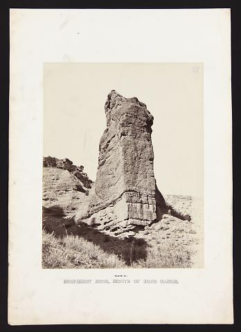 Monument Rock, Mouth Of Echo Canon from The Great West Illustrated in a Series of Photographic Views Across the Continent