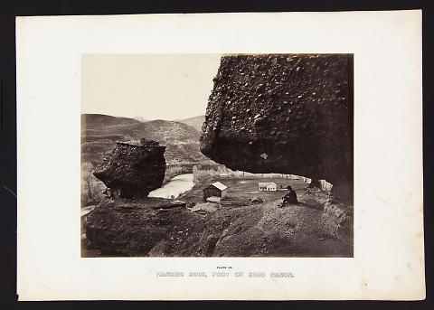 Hanging Rock, Foot of Echo Canon from The Great West Illustrated in a Series of Photographic Views Across the Continent