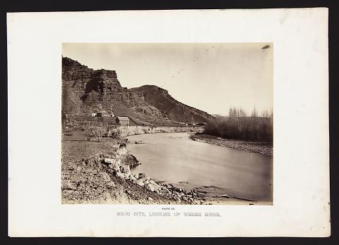 Echo City, Looking Up Weber River from The Great West Illustrated in a Series of Photographic Views Across the Continent