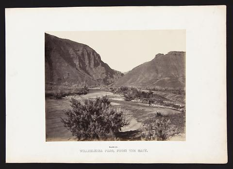 Willhelmina Pass, From the East from The Great West Illustrated in a Series of Photographic Views Across the Continent