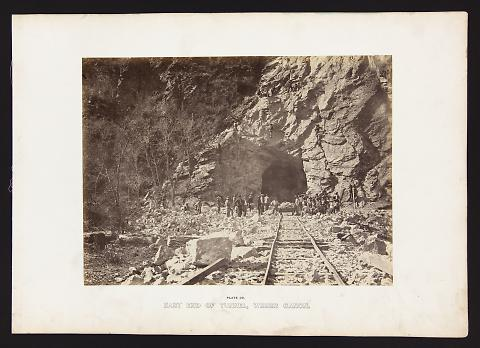 East End of Tunnel, Weber Canon from The Great West Illustrated in a Series of Photographic Views Across the Continent