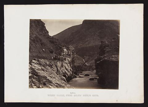 Weber Canon, From Below Devil's Gate from The Great West Illustrated in a Series of Photographic Views Across the Continent